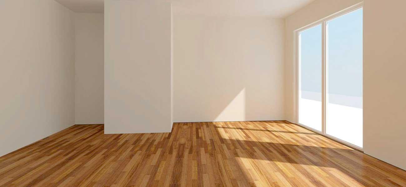 empty room with wooden floors